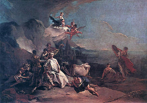 Giovanni Battista Tiepolo The Rape of Europa - Canvas Art Print