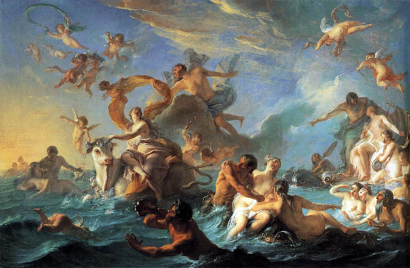 Noel-Nicolas Coypel The Rape of Europa - Canvas Art Print