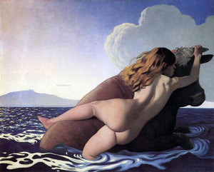 Felix Vallotton The Rape of Europa - Canvas Art Print