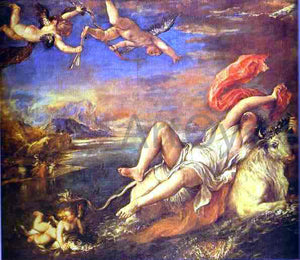 Titian The Rape of Europe - Canvas Art Print