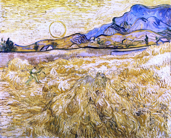 Vincent Van Gogh The Reaper (also known as Enclosed Field with Reaper) - Canvas Art Print