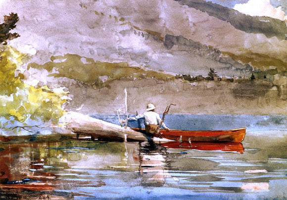 Winslow Homer A  Red Canoe - Canvas Art Print