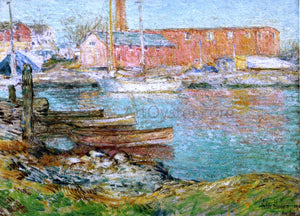 Frederick Childe Hassam The Red Mill, Cos Cob - Canvas Art Print