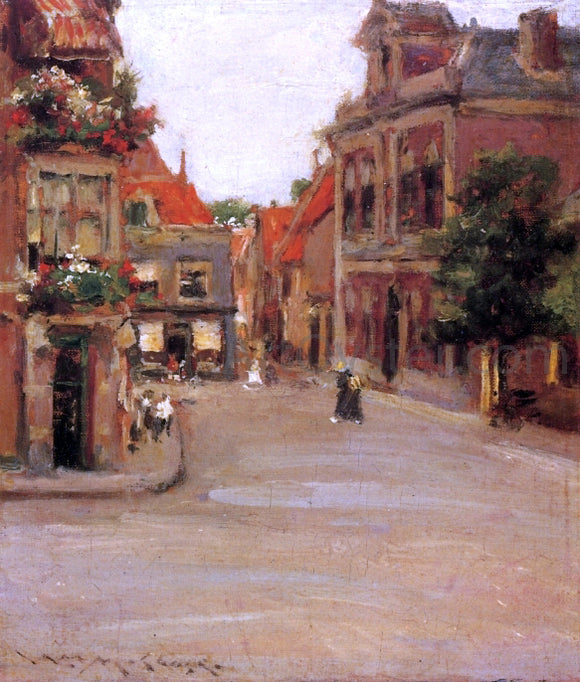 William Merritt Chase The Red Roofs of Haarlem (also known as A Street in Holland) - Canvas Art Print