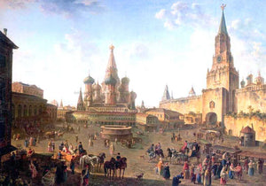 Fedor Yakovlevich Alekseev The Red Square in Moscow - Canvas Art Print