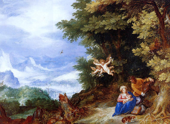 The Elder Jan Bruegel The Rest on the Flight to Egypt - Canvas Art Print