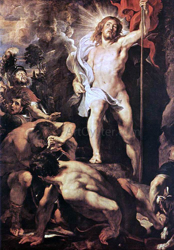 Peter Paul Rubens The Resurrection of Christ  (central panel) - Canvas Art Print