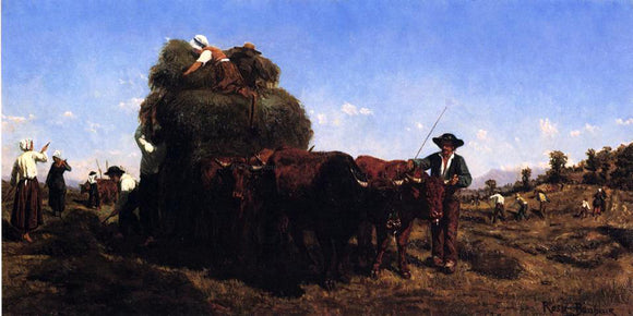 Rosa Bonheur The Return from the Harvest - Canvas Art Print