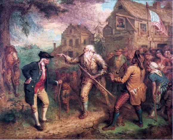 John Quidor The Return of Rip Van Winkle - Canvas Art Print