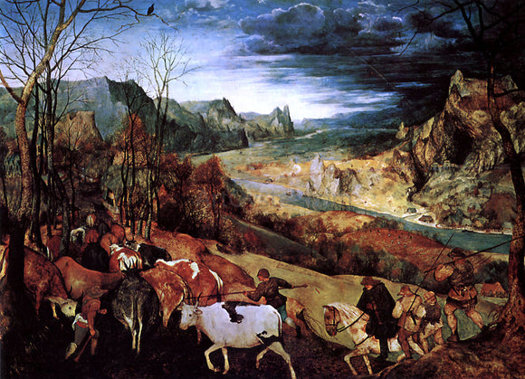 The Elder Pieter Bruegel The Return of the Herd - Canvas Art Print