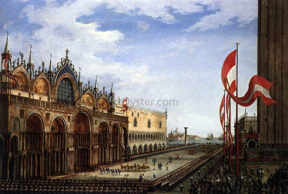 Vincenzo Chilone The Return of the Horses of San Marco - Canvas Art Print
