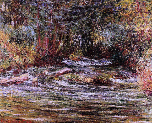 Claude Oscar Monet The River Epte at Giverny - Canvas Art Print