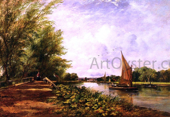 Frederick Waters Watts The Riverbank - Canvas Art Print