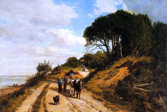 Eugene-Louis Boudin The Road from Trouville to Honfleur - Canvas Art Print