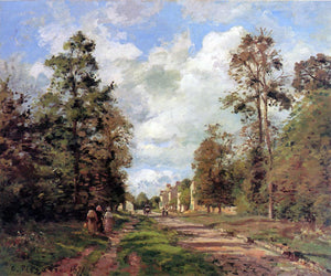 Camille Pissarro The Road to Louveciennes at the Outskirts of the Forest (also known as The Louveciennes Road) - Canvas Art Print