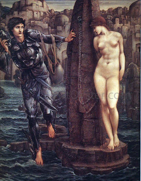 Sir Edward Burne-Jones The Rock of Doom - Canvas Art Print