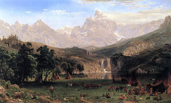 Albert Bierstadt The Rocky Mountains, Lander's Peak - Canvas Art Print