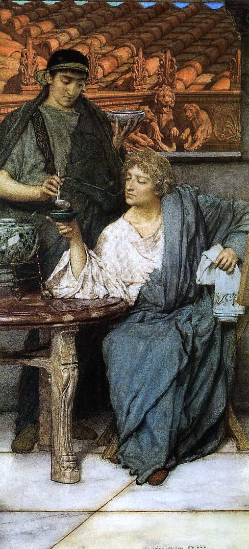 Sir Lawrence Alma-Tadema The Roman Wine Tasters - Canvas Art Print