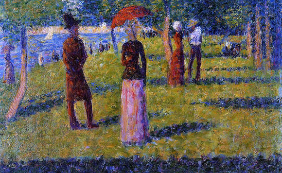 Georges Seurat The Rope-Colored Skirt - Canvas Art Print