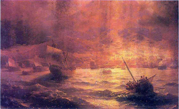Ivan Constantinovich Aivazovsky The Ruins of Pompei - Canvas Art Print