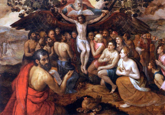 The Elder Frans Floris The Sacrifice of Jesus Christ, Son of God, Gathering and Protecting Mankind - Canvas Art Print