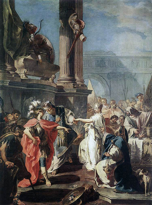 Giambattista Pittoni The Sacrifice of Polyxena - Canvas Art Print