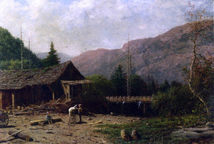 George Lafayette Clough The Saw Mill, Adirondacks - Canvas Art Print