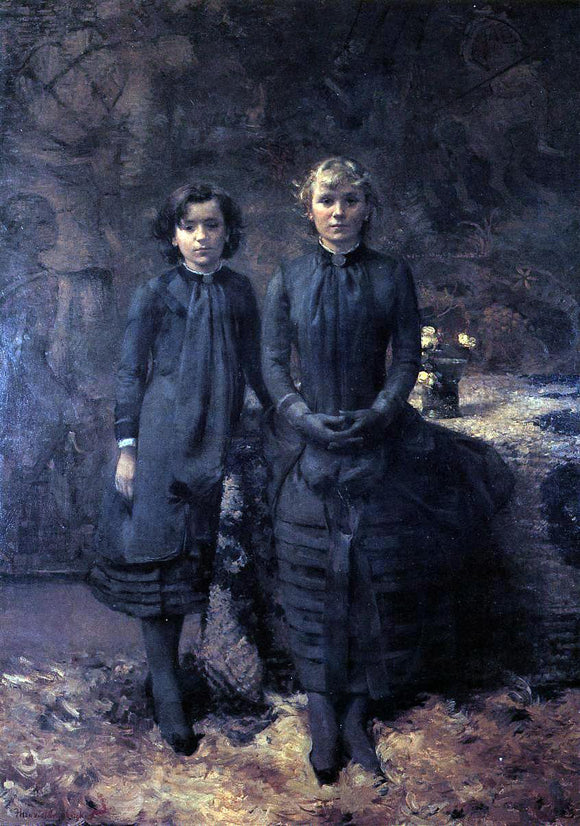 Theo Van Rysselberghe The Schlobach Sisters - Canvas Art Print