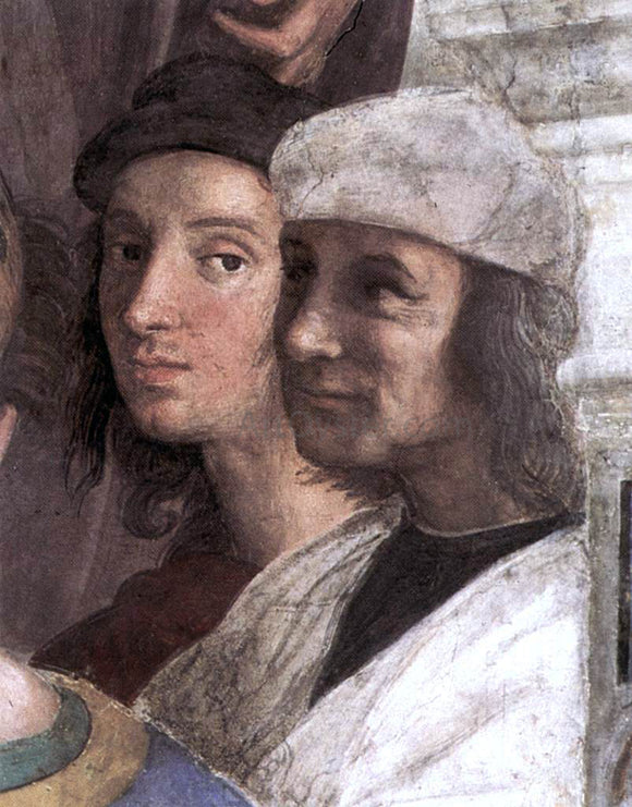 Raphael The School of Athens (detail 8) (Stanza della Segnatura) - Canvas Art Print