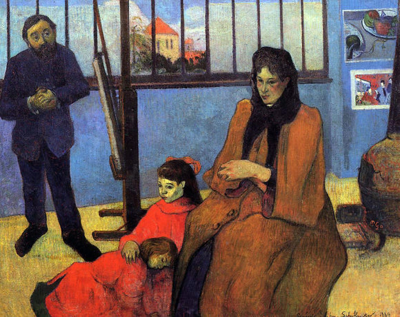 Paul Gauguin The Schuffenecker Family - Canvas Art Print
