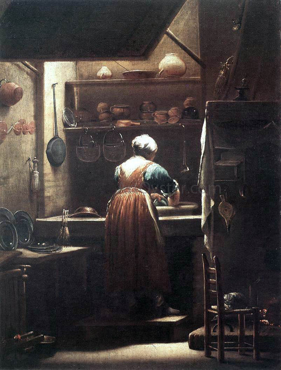 Giuseppe Maria Crespi The Scullery Maid - Canvas Art Print