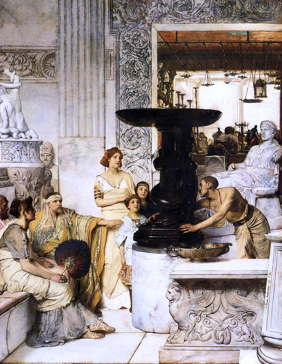 Sir Lawrence Alma-Tadema The Sculpture Gallery - Canvas Art Print