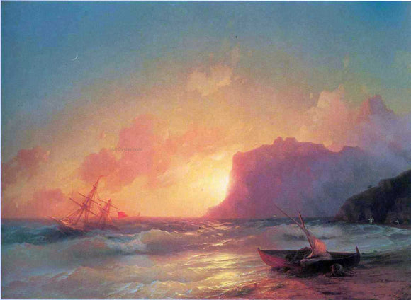 Ivan Constantinovich Aivazovsky The Sea. Koktebel - Canvas Art Print
