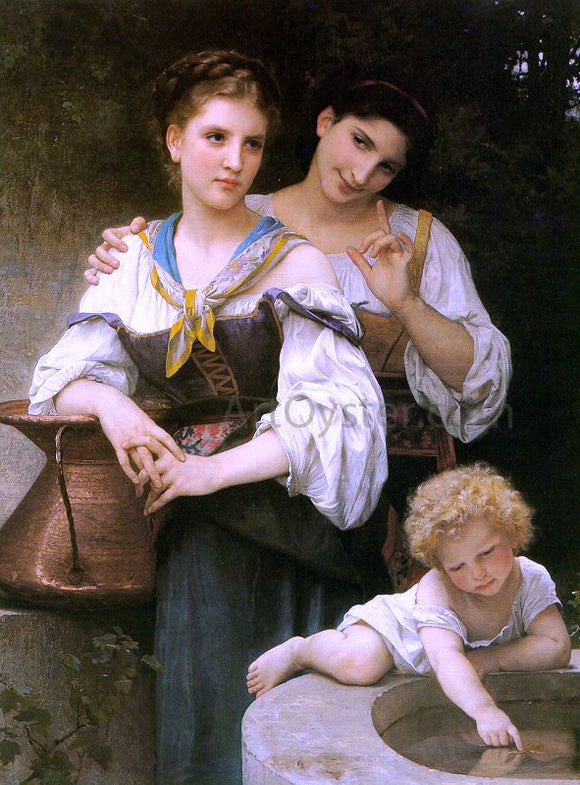William Adolphe Bouguereau The Secret - Canvas Art Print