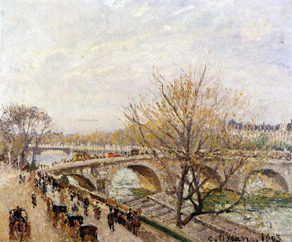 Camille Pissarro The Seine at Paris, Pont Royal - Canvas Art Print