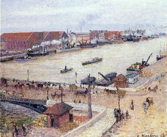 Camille Pissarro The Seine in Flood, Rouen - Canvas Art Print