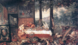 The Elder Jan Brueghel The Sense of Taste - Canvas Art Print