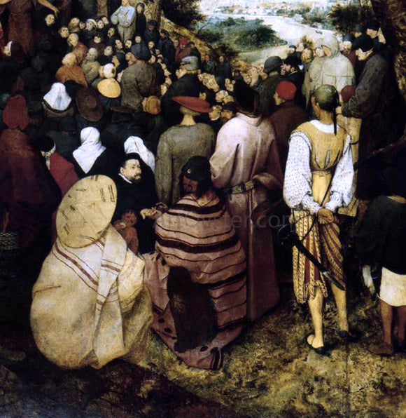 The Elder Pieter Bruegel The Sermon of St John the Baptist (detail) - Canvas Art Print