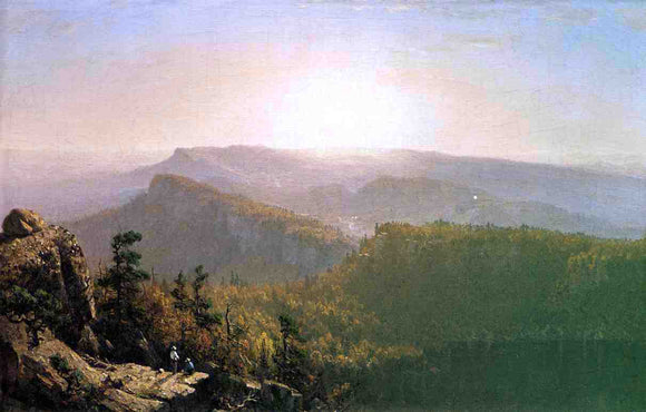 Sanford Robinson Gifford The Shawangunk Mountains - Canvas Art Print