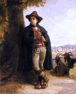 Isidore Augustin Pils The Shepherd Boy - Canvas Art Print