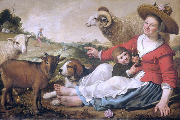 Jacob Gerritsz Cuyp The Shepherdess - Canvas Art Print