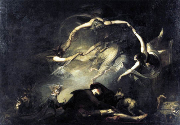 John Henry Fuseli The Shepherd's Dream - Canvas Art Print