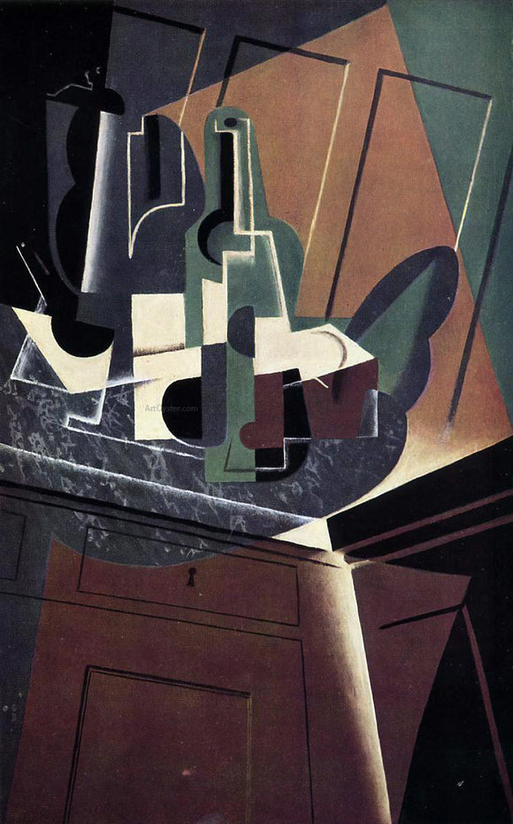 Juan Gris The Sideboard - Canvas Art Print