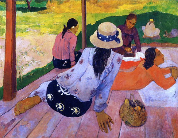 Paul Gauguin The Siesta - Canvas Art Print