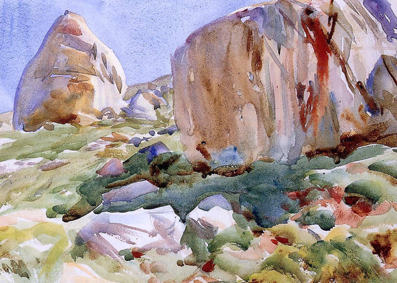 John Singer Sargent The Simplon: Large Rocks - Canvas Art Print