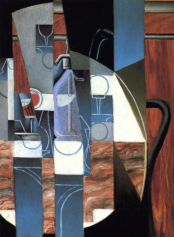 Juan Gris The Siphon - Canvas Art Print