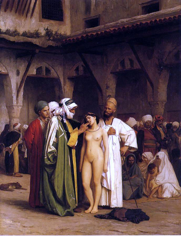 Jean-Leon Gerome The Slave Market - Canvas Art Print