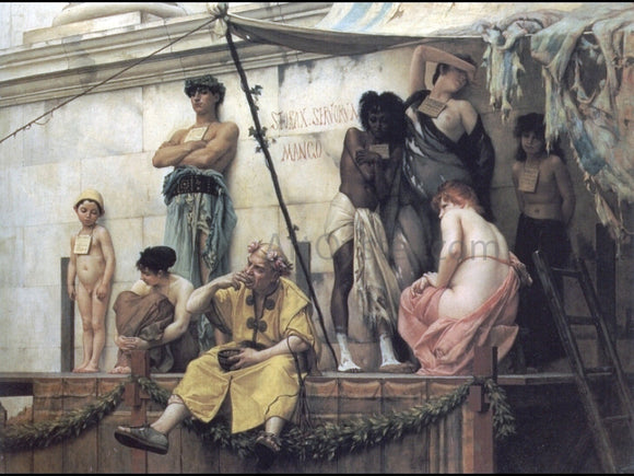 Gustave Rodolphe Boulanger The Slave Market - Canvas Art Print