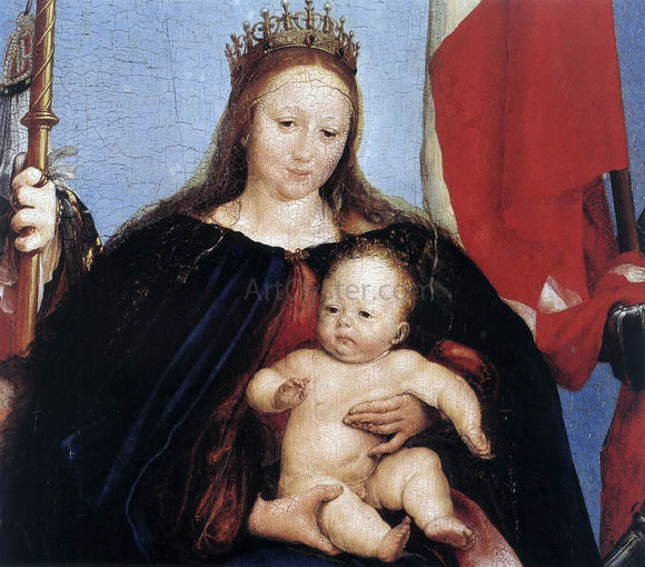 The Younger Hans Holbein The Solothurn Madonna (detail) - Canvas Art Print