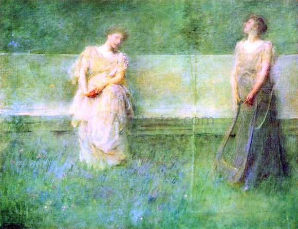 Thomas Wilmer Dewing The Song - Canvas Art Print